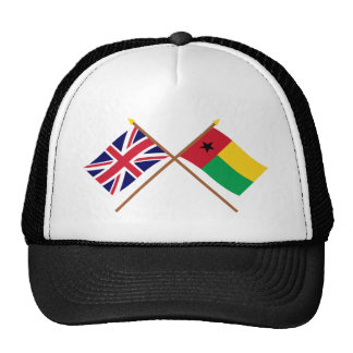 Reino Unido y banderas cruzadas Guinea-Bissau Gorro