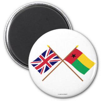 Reino Unido y banderas cruzadas Guinea-Bissau Imanes De Nevera