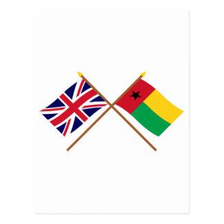 Reino Unido y banderas cruzadas Guinea-Bissau Postales