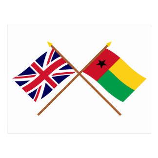 Reino Unido y banderas cruzadas Guinea-Bissau Postal