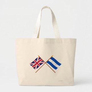 Reino Unido y banderas cruzadas Honduras Bolsas