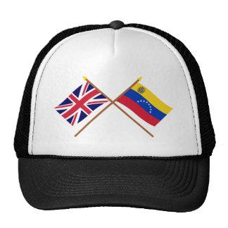 Reino Unido y banderas cruzadas Venezuela Gorro