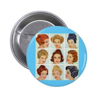 rejilla de los peinados de los años 60 chapa redonda de 5 cm
