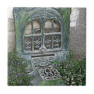 Rejilla del jardín del vintage azulejo cuadrado pequeño