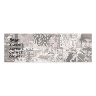 Rejilla - flaca tarjetas de visita mini