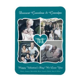 Rejilla personalizada tarjeta del día de San Imán Flexible