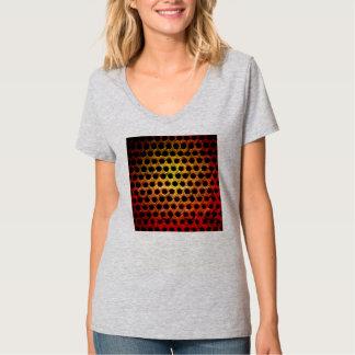 Rejilla roja del metal del Grunge Camisetas