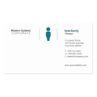 Rejilla simple tarjetas de visita