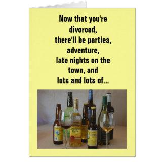 Relación/datación - ahora que usted se divorcia… tarjeta de felicitación