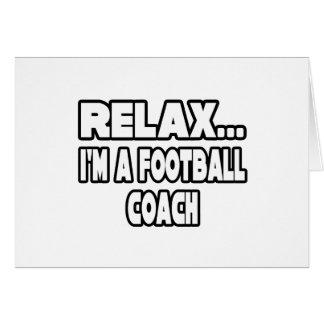 Relaje… al entrenador de fútbol felicitación