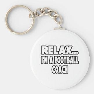 Relaje… al entrenador de fútbol llaveros personalizados