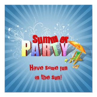 Relaje la diversión del verano - invitación del