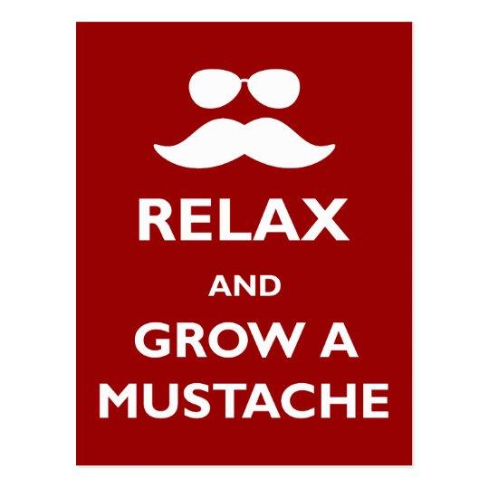 Relaje y crezca un bigote postal