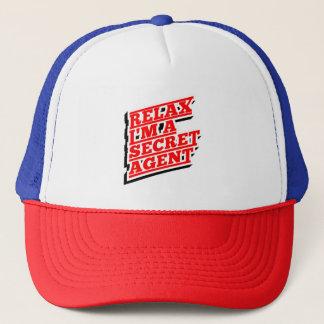 Relájeme son un agente secreto divertido gorra de camionero
