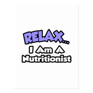 Relájeme… son un nutricionista tarjetas postales