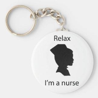 relájeme son una enfermera llaveros personalizados