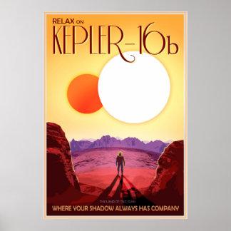 Relájese en Kepler-16b Póster