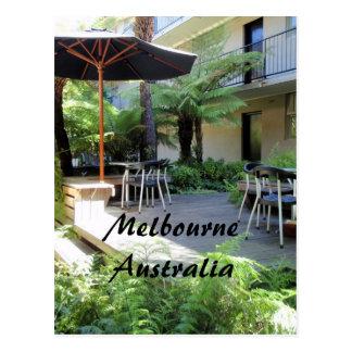 Relájese en la postal de Melbourne Australia