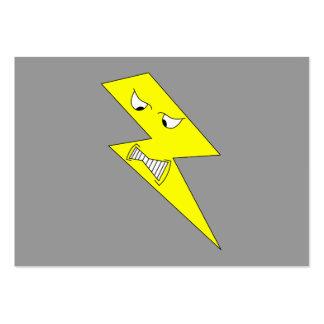 Relámpago enojado Amarillo en gris Plantillas De Tarjeta De Negocio