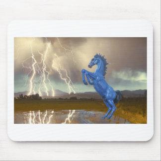 Relámpago preferido Stor del caballo salvaje del m Tapete De Ratón