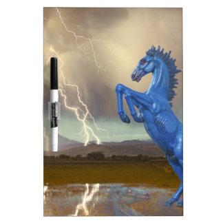 Relámpago preferido Stor del caballo salvaje del m Pizarras Blancas De Calidad