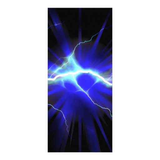 Relámpago que brilla intensamente azul o electrici tarjeta publicitaria