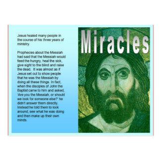 Religión, cristiano, los milagros de Jesús Tarjeta Postal