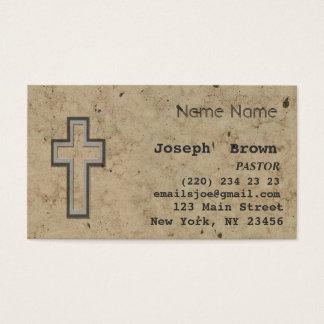 Religión cruzada cristiana profesional de Jesús Tarjeta De Negocios