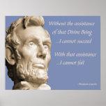 Religión de Abraham Lincoln Posters