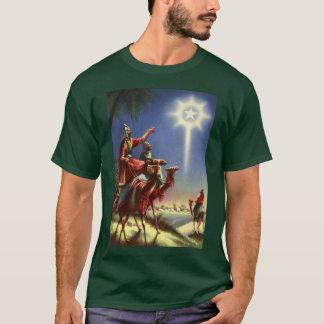Religión del vintage, hombres sabios con la camiseta