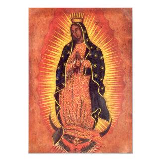 Religión del vintage, señora de Guadalupe, Virgen Invitación 12,7 X 17,8 Cm