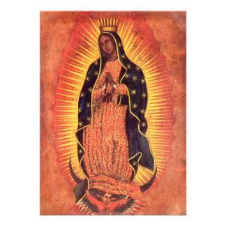 Religión del vintage, señora de Guadalupe, Virgen  Invitaciones Personales