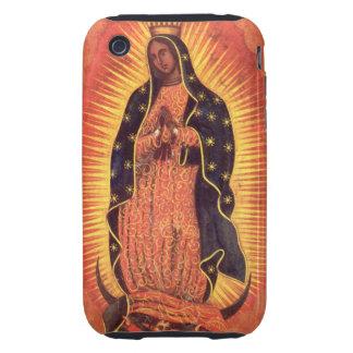 Religión del vintage, señora de Guadalupe, Virgen iPhone 3 Tough Funda