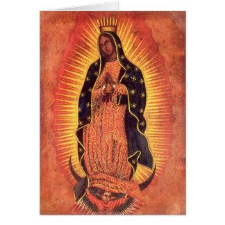 Religión del vintage, señora de Guadalupe, Virgen Tarjeta De Felicitación