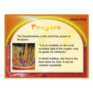 Religión, Hinduism, la India, rezos hindúes Postal