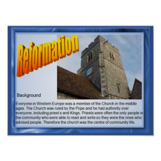 Religión, historia, reforma, fondo poster