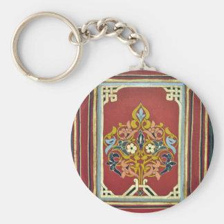 religión islámica árabe que pinta el maroc floral llavero redondo tipo chapa