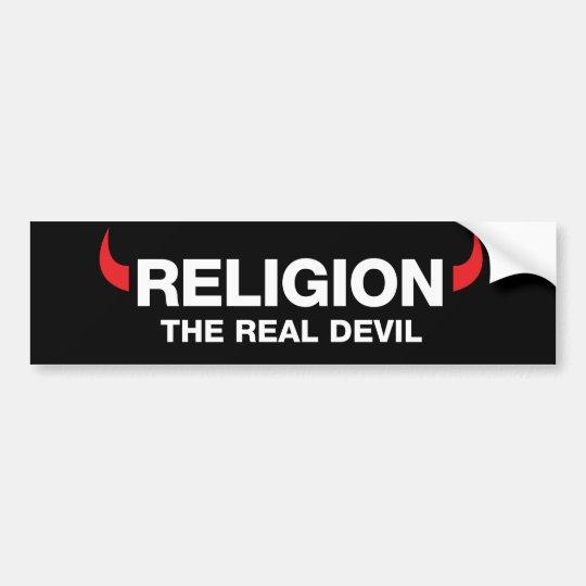 Religión la pegatina para el parachoques real del