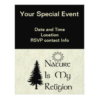 Religión natural tarjeta publicitaria
