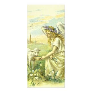 Religión Pascua, ángel del vintage del Victorian c Tarjeta Publicitaria A Todo Color