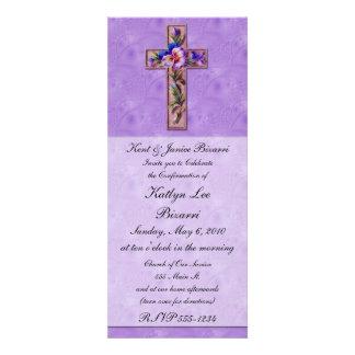 Religioso bautismo invitación de la confirmación
