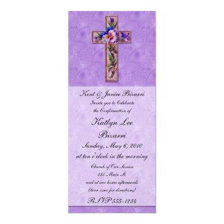 Religioso, bautismo, invitación de la confirmación