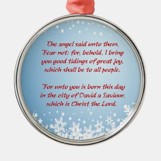 Religioso cristiano de Lucas 2 de la historia del  Adornos De Navidad