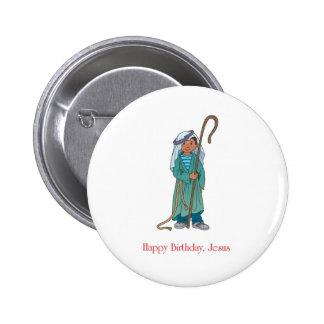 RELIGIOSO Pastor de Jesús del feliz cumpleaños Pins