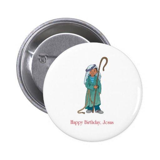 RELIGIOSO: Pastor de Jesús del feliz cumpleaños Pins
