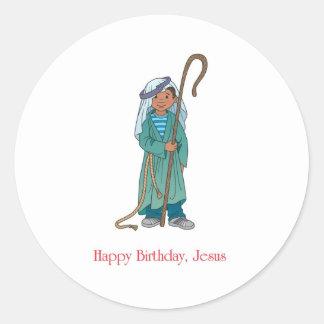 RELIGIOSO Pastor de Jesús del feliz cumpleaños Etiquetas