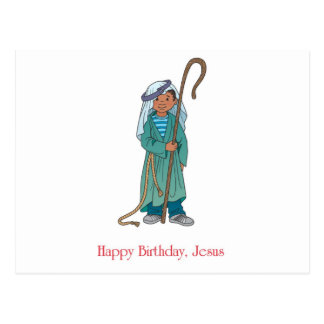 RELIGIOSO Pastor de Jesús del feliz cumpleaños Tarjeta Postal