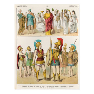 Religiosos griegos y los militares se visten postal