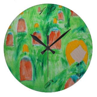 Reloj Redondo Grande Reloj 2 del círculo de las señoras que camina