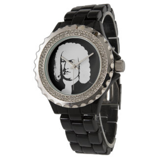 Reloj Abstractamente y Johann Sebastian Bach en negras